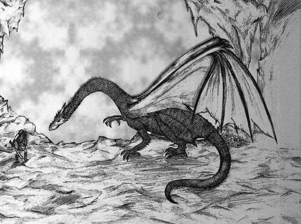 Beowulf_vs_Dragon_by_Kalliroe
