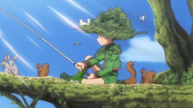 Gon_trying_to_catch_the_master_of_the_swamp